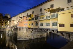 Florence Ponte Vecchio by night Royalty Free Stock Images