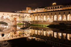 Florence: The Ponte Vecchio by night Stock Photo