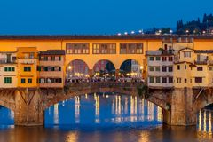 Florence. Ponte Vecchio. Stock Photos