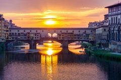 Florence. Ponte Vecchio. Stock Photography