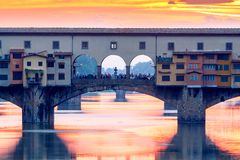 Florence. Ponte Vecchio. Stock Photo