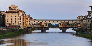 Florence Ponte Vecchio Rise Royalty Free Stock Photos