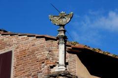 Florence, Ponte Vecchio, sundial Royalty Free Stock Image