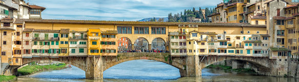 Florence Ponte Vecchio sunset view panorama landscape Stock Images