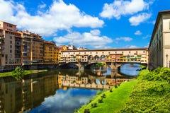 Florence, Ponte Vecchio (Toscanië, Italië) Royalty-vrije Stock Afbeeldingen