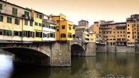 Florence, ponte vecchio stock video
