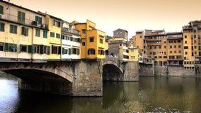 Florence, ponte vecchio stock video