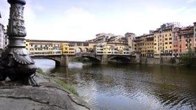 Florence, ponte vecchio. Typical Italian cityscape stock video