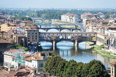 Florence with ponte vecchio Stock Image