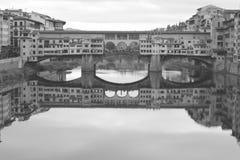 Florence Ponte Vecchio vista de Ponte Santa Trinita fotos de archivo libres de regalías