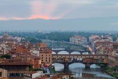 Florence. Ponte Vecchio. Stock Images