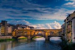 florence pontevecchio Fotografering för Bildbyråer