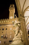 Florence - of the Sabines. Loggia dei Lanzi, by Giambologna royalty free stock photo