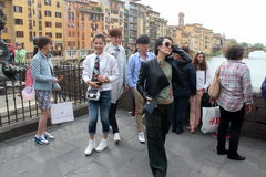 Florence reality set of China  Were are we going, Dad Royalty Free Stock Images