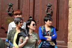 Florence reality set of China  Were are we going, Dad Royalty Free Stock Image