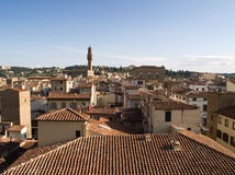 Florence red Rooftops. View of beutiful red rooftops in Florence shot from Campanile Stock Image