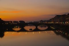 Florence River Arno Photo libre de droits