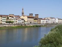Florence and the river Arno Stock Photo