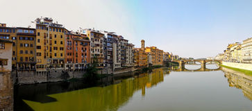 Florence river houses Royalty Free Stock Photos