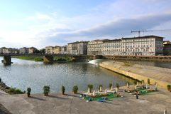 Florence river , Italy Stock Photography