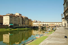 Florence (Rivier Arno) Stock Afbeelding