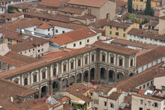 Florence roof tiles in Tuscany Stock Image