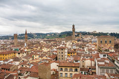 Florence roofs. Top view of florence hoods in Italy royalty free stock image