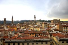 Florence roofs in city center , Italy Stock Images