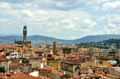 Florence roofs in city center , Italy Stock Image