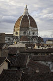 Florence roofs and Cupola Duomo cathedral 2 Stock Photo