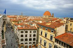 Florence rooftops. Seen from the Duomo teraces. Firenze seen from above Stock Photos