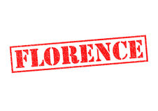 FLORENCE. Rubber Stamp over a white background Royalty Free Stock Photo