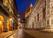 Florence Rue de nuit Image libre de droits