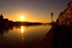 Florence rzeka arno Fotografia Royalty Free