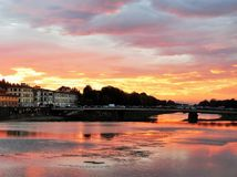 florence słońca Fotografia Royalty Free