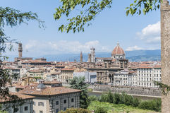 Florence's as seen from Piazzale Michelangelo, Italy Royalty Free Stock Photos