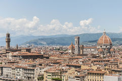 Florence's as seen from Piazzale Michelangelo, Italy Stock Photography