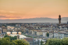 Florence's as seen from Piazzale Michelangelo, Italy Royalty Free Stock Images