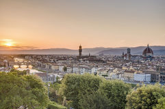 Florence's as seen from Piazzale Michelangelo, Italy Stock Photo
