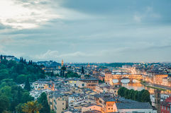 Florence's as seen from Piazzale Michelangelo, Italy Stock Images