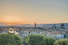 Florence's seen from Piazzale Michelangelo, Italy Stock Images