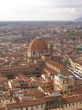 Florence - San Lorenzo. Florence - aerial view of San Lorenzo church and Biblioteca Medicea Laurenziana from the top of the Cathedral dome (Brunelleschi's dome Royalty Free Stock Images