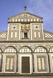 Florence San Miniato church stock photo