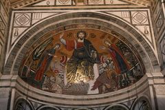 Florence San Miniato interior detail Stock Photo