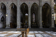 Florence, santa croce church interior Stock Photography
