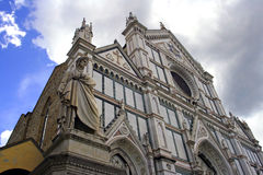 Florence Santa Croce Dante Stock Photo
