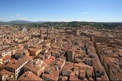 Florence, Santa Croce and Palazzo Vecchio Stock Photos