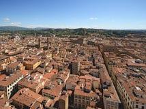 Florence, Santa Croce and Palazzo Vecchio Royalty Free Stock Photo