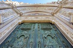 Florence, Santa Maria Del Fiore-ingang Stock Fotografie