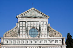Florence, Santa Maria Novella. Santa Maria Novella. Facade basilic. Florence, Italy Stock Image